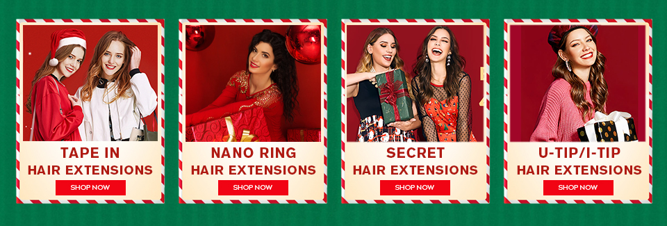 christmas hair extensions category