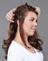 How to wear clip in hair extensions,Step Six