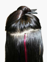 How to Apply Micro Loop Hair Extensions,Step Five
